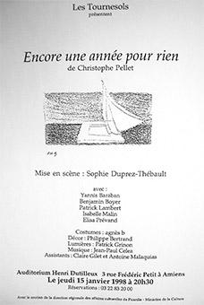 Créations 1997 de la compagnie les Tournesols